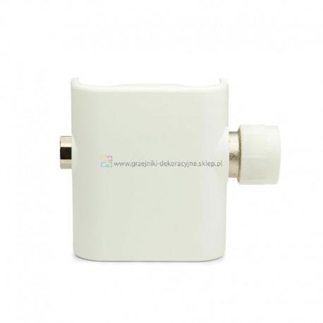 Zawór do przyłącza 50 mm z osłoną prostą - biały